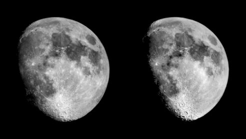 Moon 3D pair Stereo 3D Moon