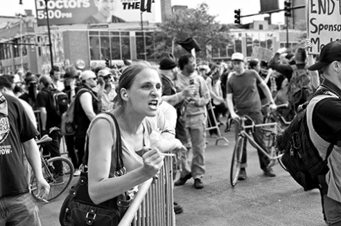 Anger NATO Protest, Chicago, Illinois