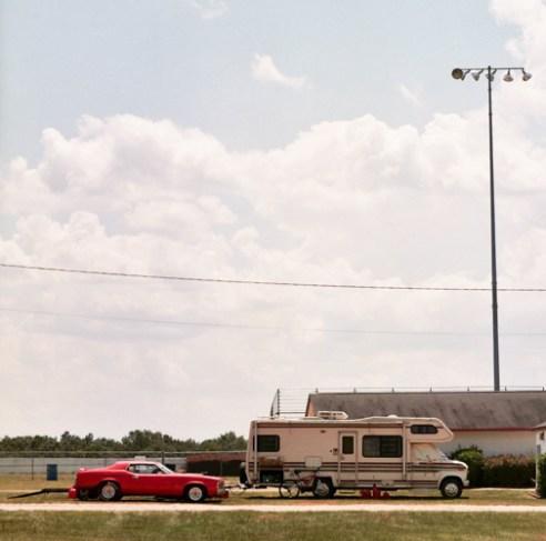 An RV with trailer, Carolina Dragway, Aiken, South Carolina, 2015