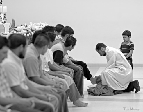 Washing the Feet, Our Lady of Guadalupe Catholic Church, Charlotte, NC
