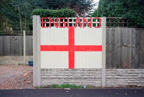 England Flag Mural Walsall-2014