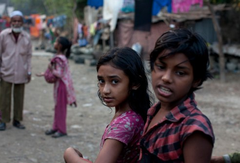 Girl and Brother Informal settlements Gazipur, Dhaka, Bangladesh
