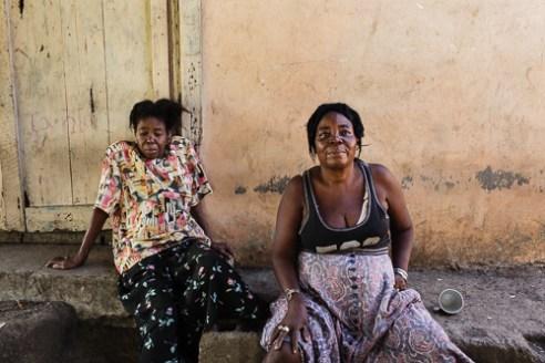 Two women Women often work menial jobs at tourist hotels.