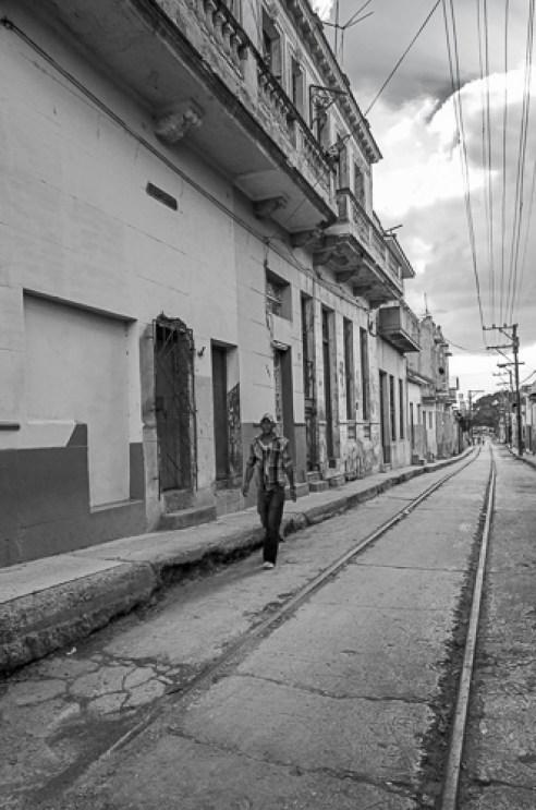 Street with Train Tracks Regla, Havana