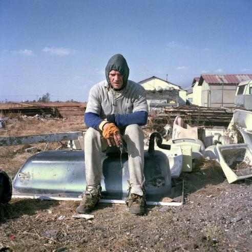 Hannes Schoeman lives in a tiny corrugated –iron and cement hovel in Lochvaal Emfuleni, a white squatter camp in Vanderbijlpark