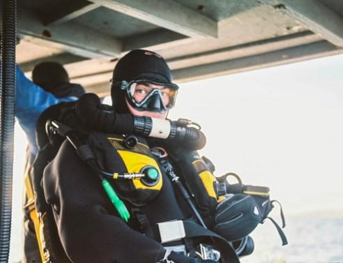 Scallop diver