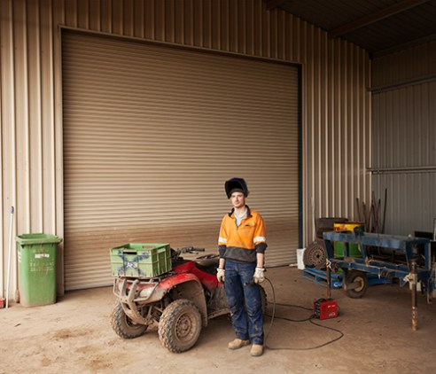 Enrico (32, Italy) in his workshop. Enrico arrived in Australia in 2012 with a Working Holiday Visa, he found a job in a farm in Victoria where he still works now, in fact, he has been supported by the business to apply for a temporary work visa under the skilled visa program. Thanks to his experience as a general fitter is now looking forward to become a permanent resident in Australia. Stratford
