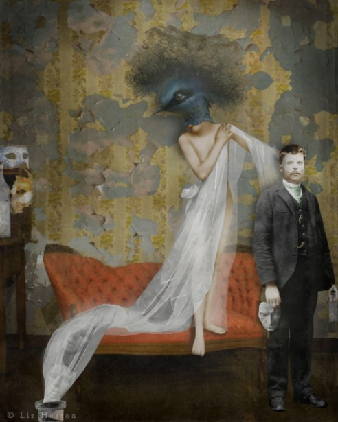 """Borrowed Memories"" Mixed Media: Digital Painting, Photomontage, Watercolor"
