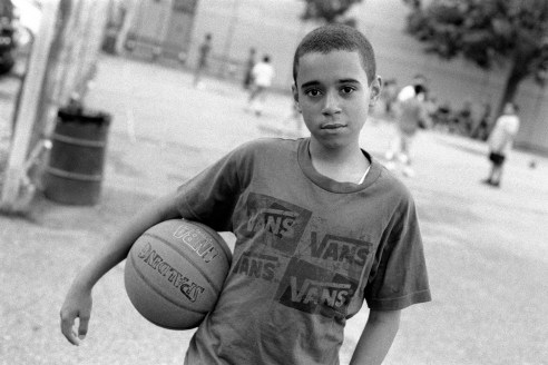 Basketball Player In the Park Before Evening Prayers, Brooklyn, NY 2011
