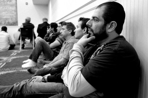 Listening to the Imam, Islamic Center of Murfreesboro, Murfreesboro, TN 2014