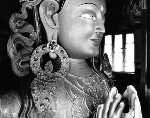 Maitreya Buddha Thikse Gompa, Ladakh, India