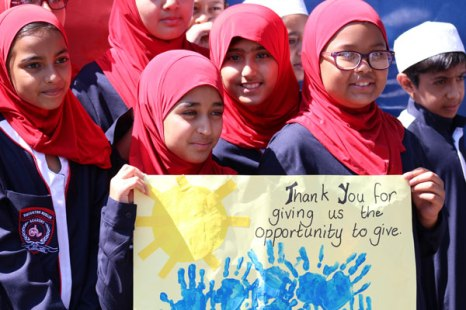 Learners from Houghton Muslim Academy got involved in the Operation Hydrate water drive that saw as much as 27-million litres of water donated on the day.