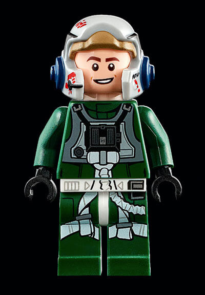 Exclusive pilot minifigure from the Ultimate Collector Series A-Wing LEGO set