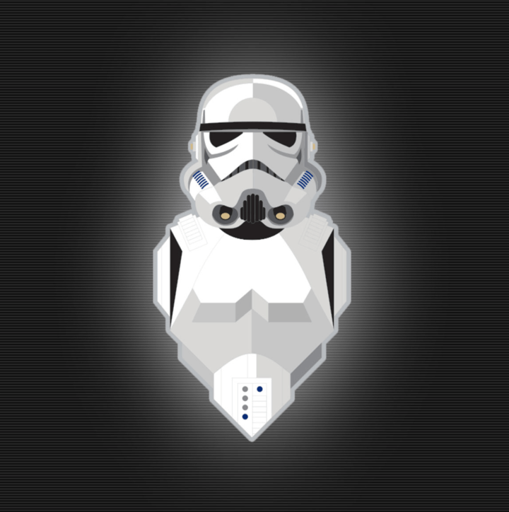 Exclusive stormtrooper character pin