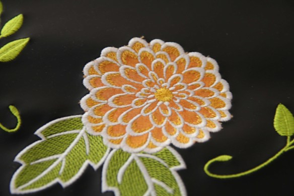 Chalk cloth embroidery