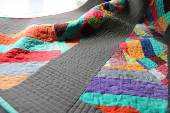 Straigh line quilting on domestic machine