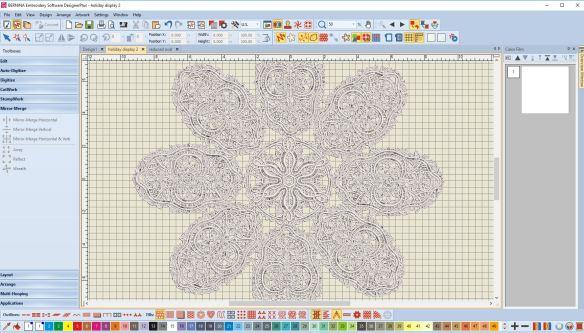 Freestanding lace, Bernina Software 8