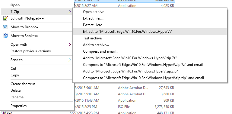 Extract Virtual Machine Zip File
