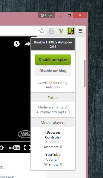 Disable HTML5 Autoplay options
