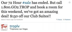 Topicana Las Vegas 72 Hour Sale
