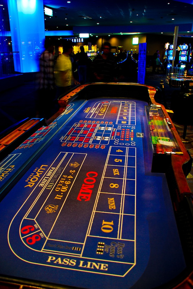 Craps Table At Luxor