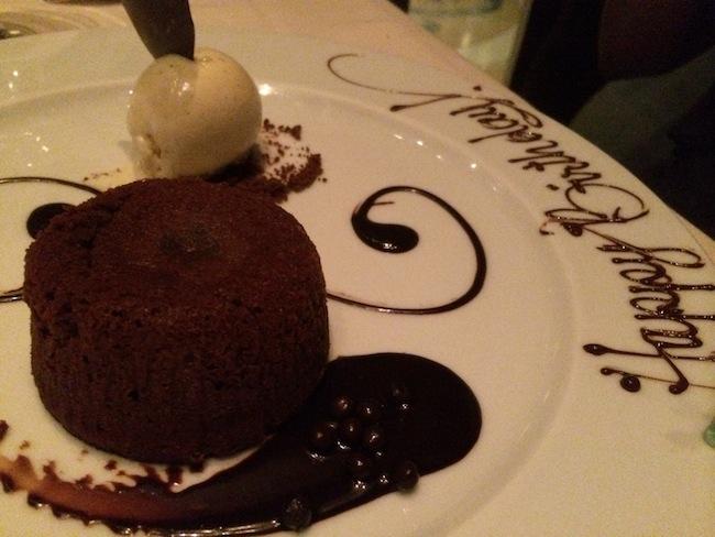 Happy Birthday Dessert At Prime At Bellagio Las Vegas