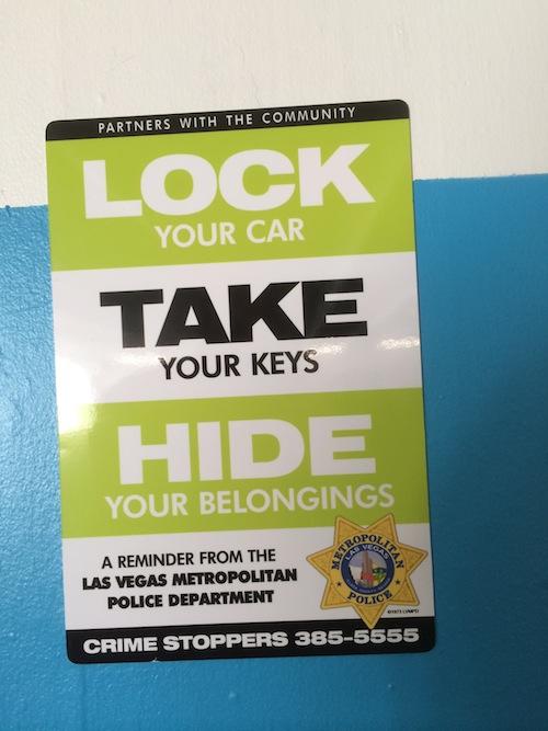 SLS Parking Garage Warning