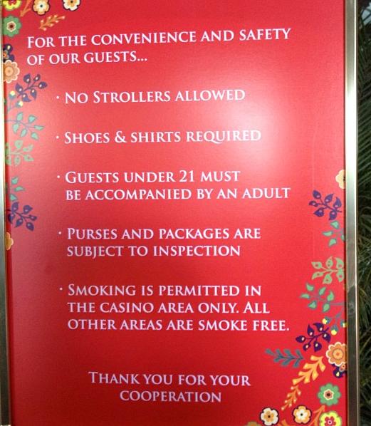 No Strollers At Wynn