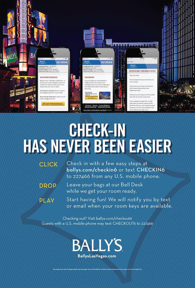 Bally's Early Check-In