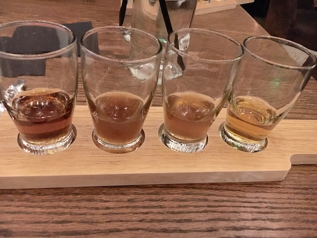 Bourbon Flight At Yardbird Las Vegas