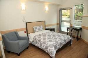 Whiterock EHN Canada Addiction Treatment Facility Private Bedroom Big Bed