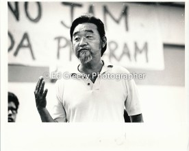 Duke Choy gives testimony at Ethnic Studies meeting 1972