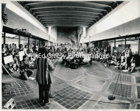 Chinatown People Against Chinatown Evictions (PACE) held anti eviction demo at City office bldg. 2928-1-11A 11-24-75