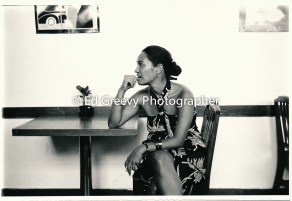 Haunani-Kay Trask at YWCA Coffee Line.6050-25 9-12-86