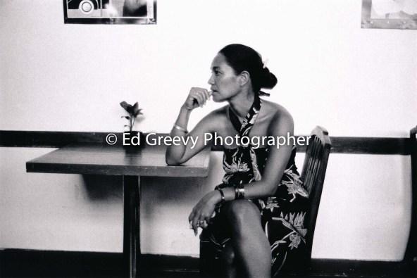 Haunani-Kay Trask at the Coffee Line, University YWCA6050 9-12-86