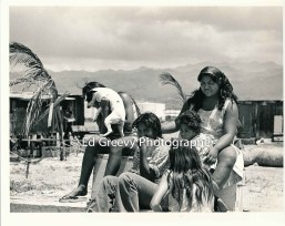 Mokauea Island kids on their island home. 2914-5- 8-26-75