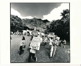 progressive-politica-activist-john-witeck-with-daughter-marches-with-waiahole-waikane-residents-on-landlord-mrs-marks%ca%bb-front-yard-2981-9-10-4-21-76_