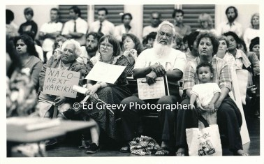 Anti Mc donalds rally-demo in Waimanalo. 6024 2-8-84 _