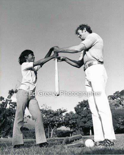 Big brothers baseball play. 2514 1971