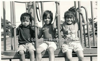Pearl City kids posing for Roy Takumi campaign. _