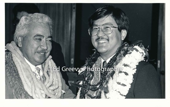 Roland Kotani, rt. with State House member. 6075 1-88