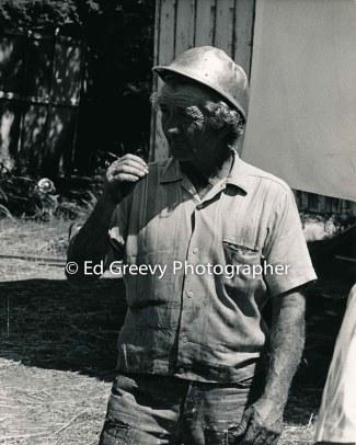 George Santos on his pig farm in Kalama Valley.2358-1-4 5-71