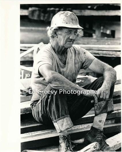 Pig farmer George Santos at his Kalama Valley pig farm. 2343-21 1971