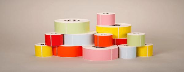 Etichette adesive personalizzate (rotoli o fanfold)