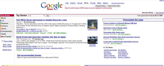 2006 Google News