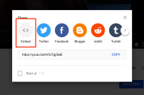 Embed button on Youtube