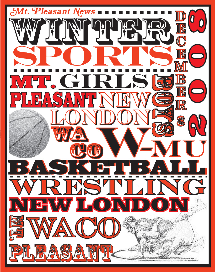 z MT PLEASANT winter sports tab cover
