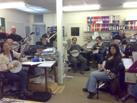 The first ever EFDSS banjo workshop (eight years ago) took place in the staff office!