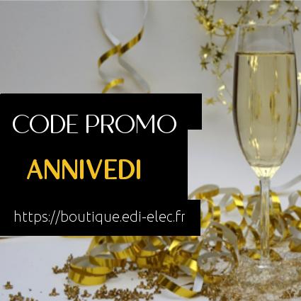 EDI code promo anniversaire