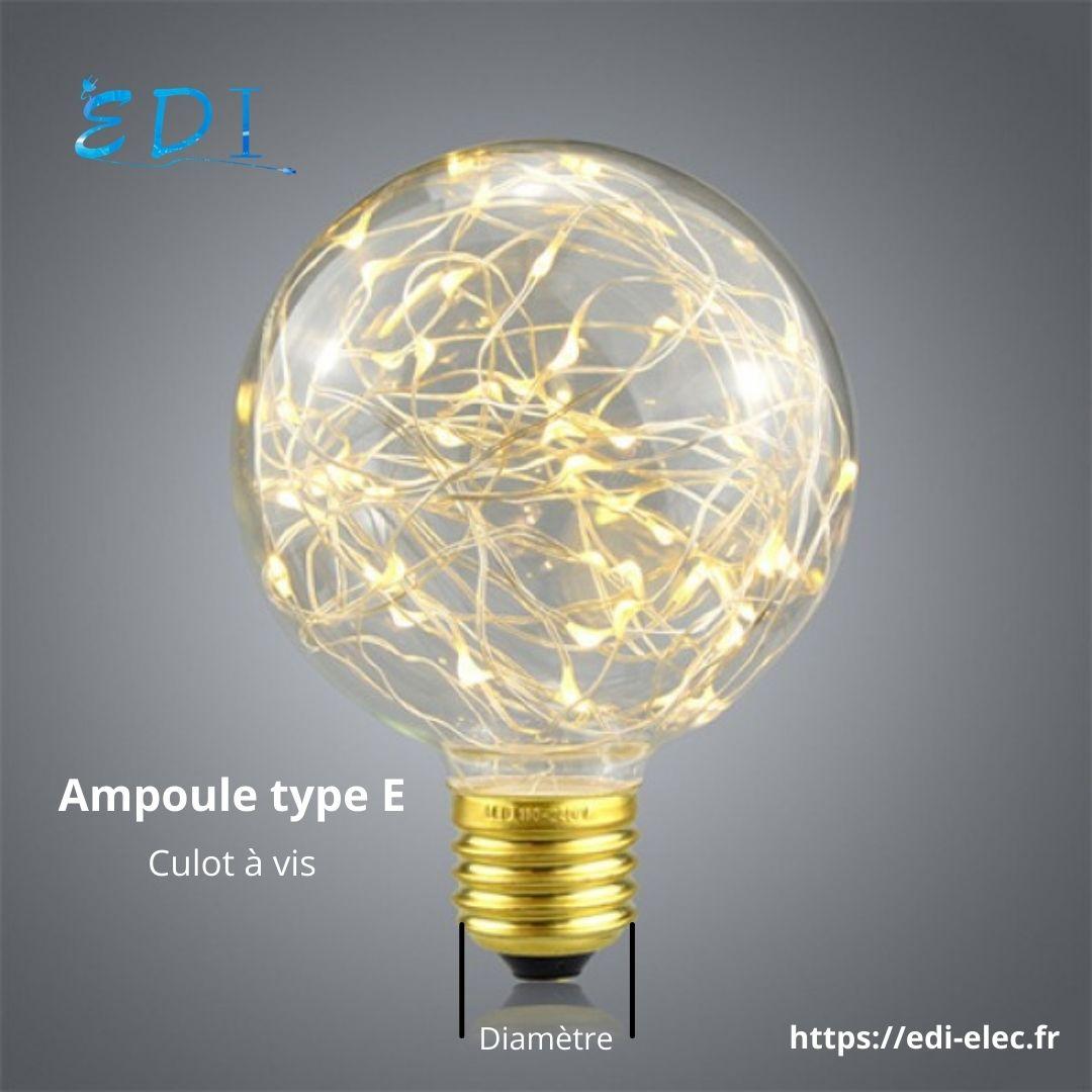 Ampoule de type E
